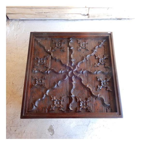 古い木彫刻のローテーブル abracadabra 03