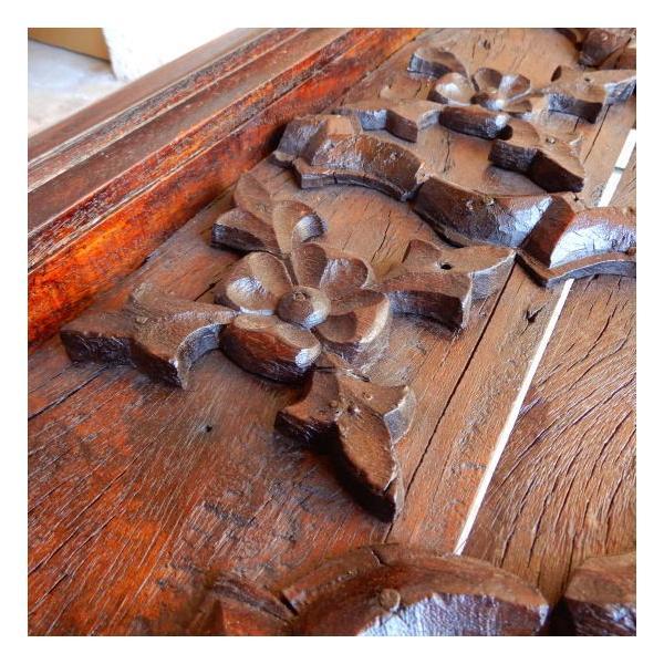 古い木彫刻のローテーブル abracadabra 04