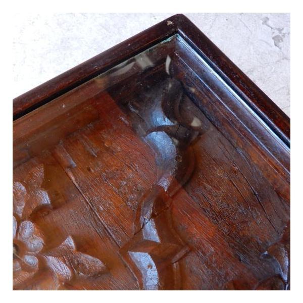 古い木彫刻のローテーブル abracadabra 06
