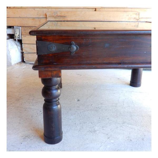 古い木彫刻のローテーブル abracadabra 07