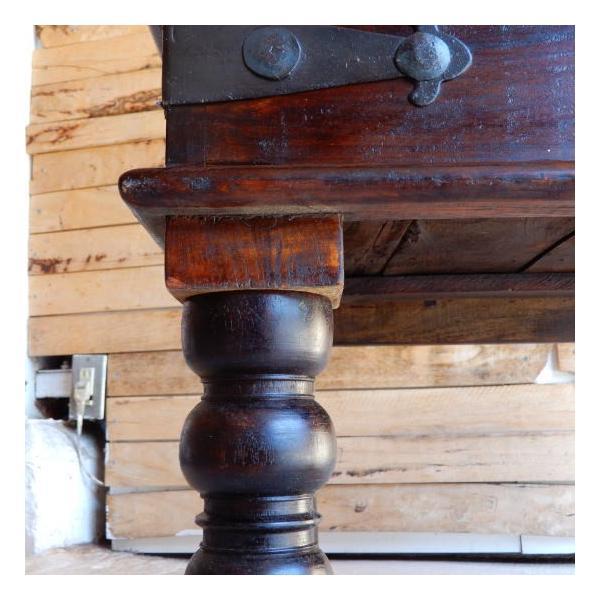 古い木彫刻のローテーブル abracadabra 08