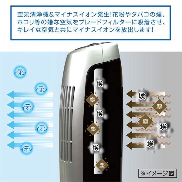 フィルター 交換不要 空気清浄機 & マイナスイオン 消臭 スリムエアクリーナー WH (タッチスイッチ) MEH-44WH マクロス