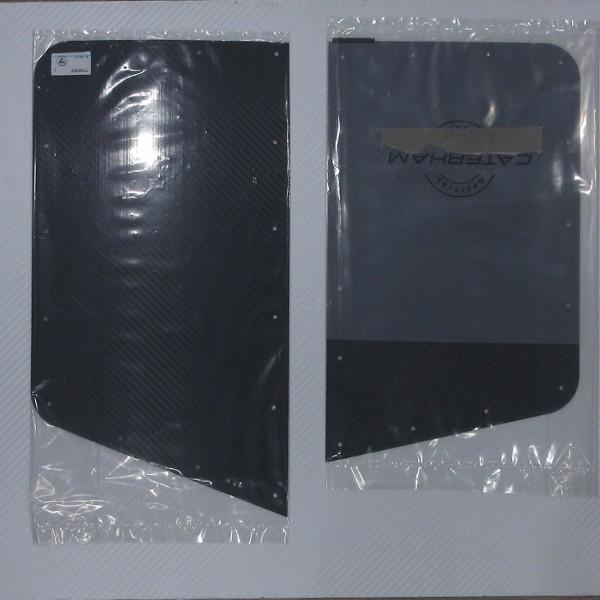 ウイングプロテクター 左右ペア カーボン 黒 / CATERHAM リベット・プロテクター付き|ac-minds-aj|05