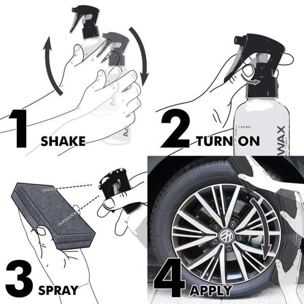 AdlaS アドラス 水性タイヤワックスType2 タイヤの黒・ツヤ・持続タイプ タイヤに優しい水性タイヤコーティング剤 60サイズ|access-ev|04