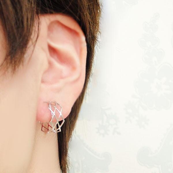 ニューノンホールピアス ワイヤーメッシュ マルピア|accessoryjapan|07
