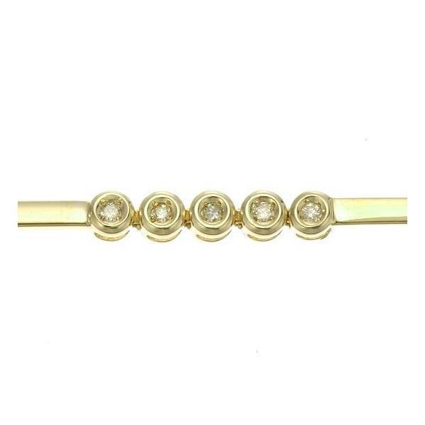 18金イエローゴールド×ダイヤモンド5pcsブレスレット