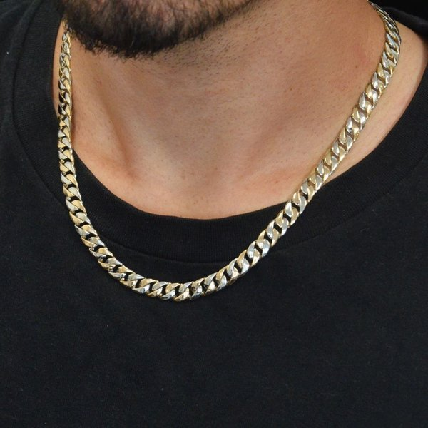 18金 ネックレス 喜平 喜平ネックレス K18 メンズ ゴールド プラチナ Pt900 コンビ 50cm 89g 7mm幅 日本製 手造り キヘイ チェーン 男性