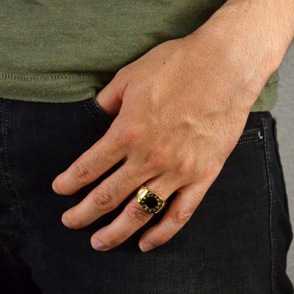 K18 ダイヤモンド オニキス メンズリング 指輪|accessorymart|03