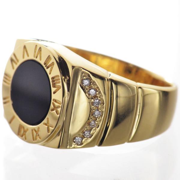 K18 ダイヤモンド オニキス メンズリング 指輪|accessorymart|04
