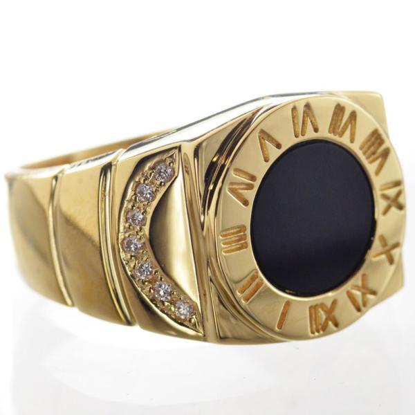 K18 ダイヤモンド オニキス メンズリング 指輪|accessorymart|05