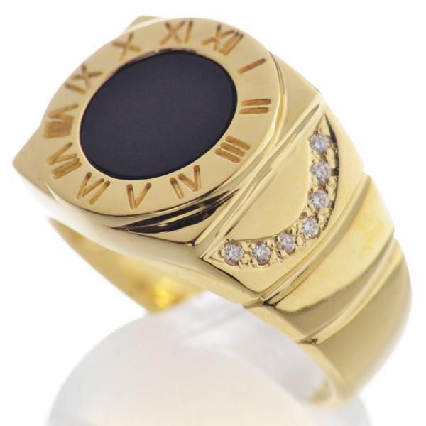 K18 ダイヤモンド オニキス メンズリング 指輪|accessorymart|06