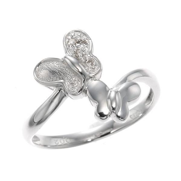 ダイヤモンドツインバタフライリング 指輪 4月誕生石|accessorymart