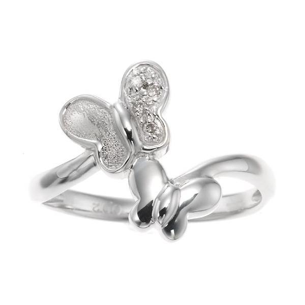 ダイヤモンドツインバタフライリング 指輪 4月誕生石|accessorymart|02