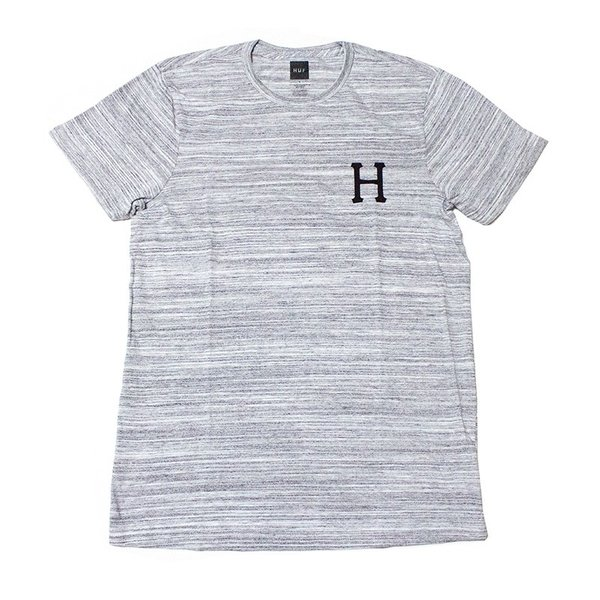 HUF:CLASSIC H STREAKY WASH TEE Gray