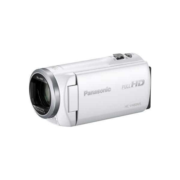 パナソニック HC-V480MS-W デジタルハイビジョンカメラ 32GB ホワイト
