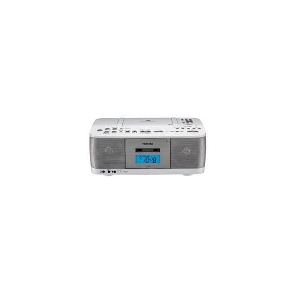 東芝 TY-CDK9-W CDラジカセ ワイドFM対応 ホワイト