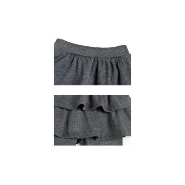 6e80f57984678 ... 子供 2段フリルのスカッツ ストレッチ スカート付き レギンス パンツ キッズ 女の子 6カラー 100 ...