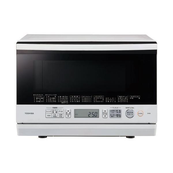 簡易スチームオーブンレンジ 23L グランホワイトTOSHIBA 石窯オーブン ER-R6-W|acespade-select2018|01