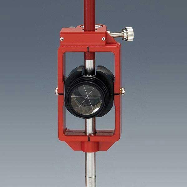 [送料無料]神山製作所 K式ピンポールプリズム2型セット スライド式 定数0mm ワンタッチストップ機構 (落下防止型) プリズム径1インチ 測量 土木 光波用ミラー
