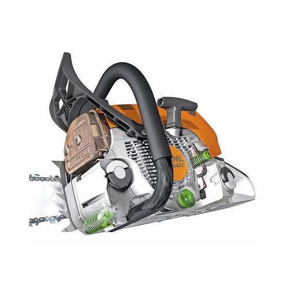 [送料無料] STIHL(スチール) 軽量コンパクトエンジンチェンソー MS180C-BE  ガイドバー35cm 農林 木材切断|acetech|04