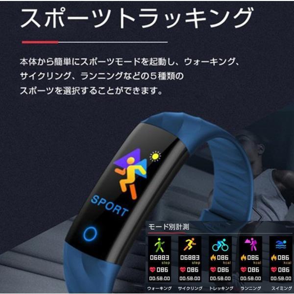 スマートウォッチ 血圧血中酸素計測 電話Lineメール着信通知 生活防水 iPhone Android対応 スマートブレスレット 歩数計心拍数 achostore 12