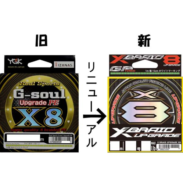G-soul X8 アップグレード 200m 1.2号 25LB PEライン 8本編み YGKよつあみ|acoltsurigushop
