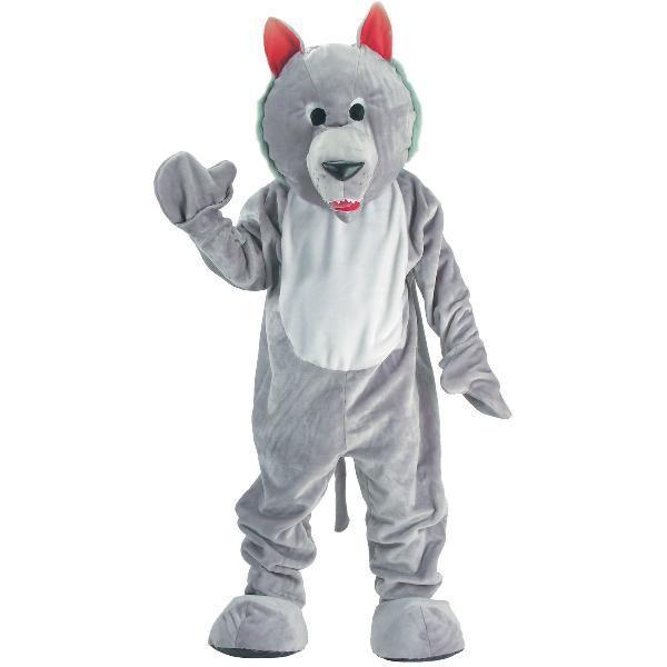 はらぺこおおかみ 狼 着ぐるみ きぐるみ キャラクター エコノミーマスコット 大人用コスチューム パジャマ