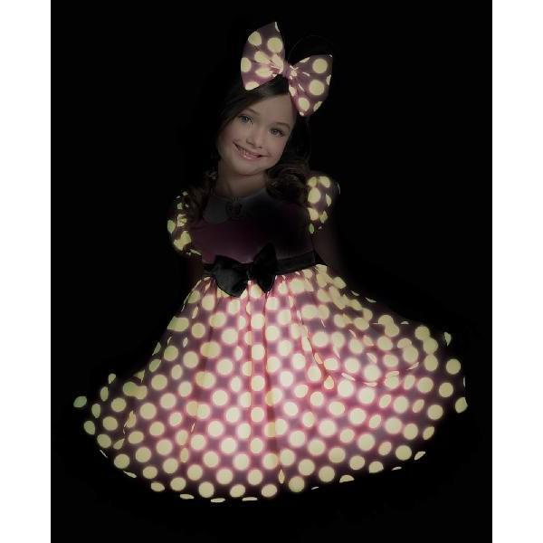 dbd7786eb07b4 ... ミニー コスプレ 子供 ハロウィン 仮装 ディズニー 子供 コスチューム 人気 衣装 ドレス キッズ 光るドレス あすつく