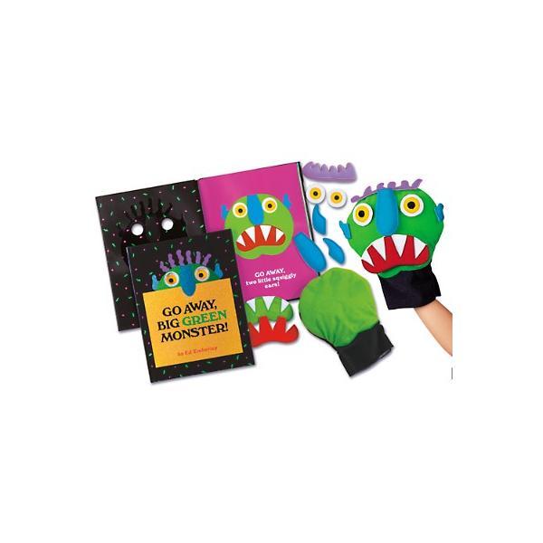 英語 教材 学習 子供 知育 絵本 パペット人形セット 「Go Away, Big Green Monster 」