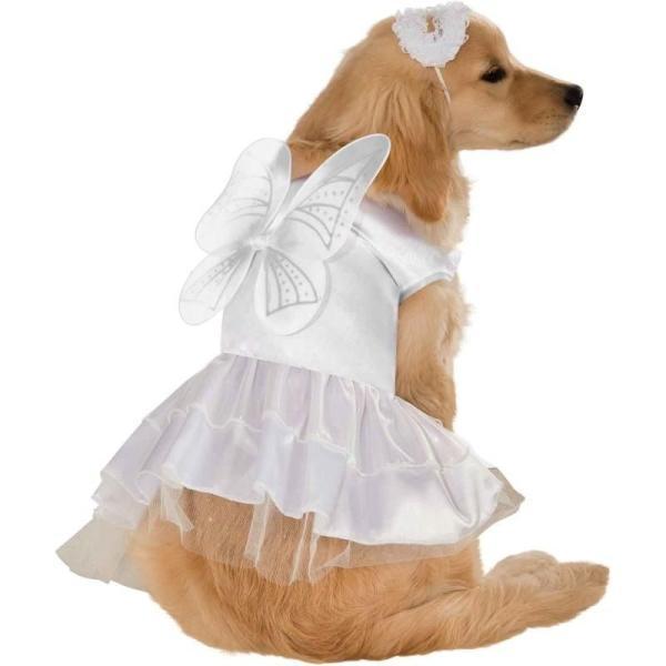 エンジェル ドッグ コスチューム 犬 天使 コスプレ 服 衣装 白 かわいい カワイイ わんちゃん わんこ ワン プレゼント 年賀状 戌年