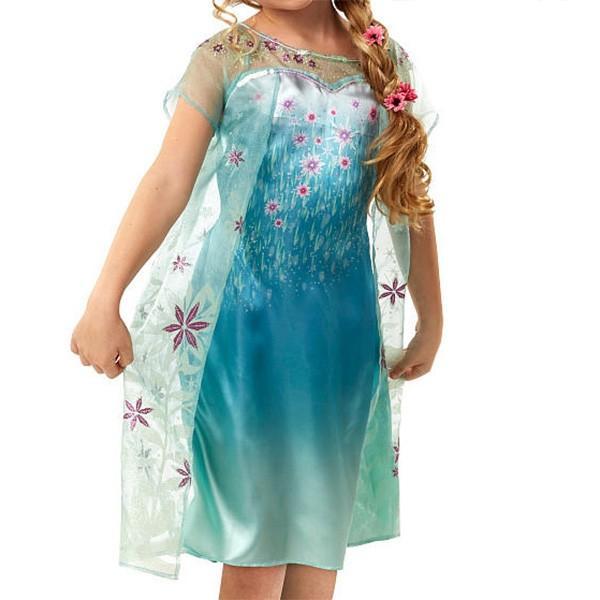 dbb31ce404dbd ... ディズニー コスプレ 子供 コスチューム 人気 アナと雪の女王 2 エルサのサプライズ ドレス アナ ...