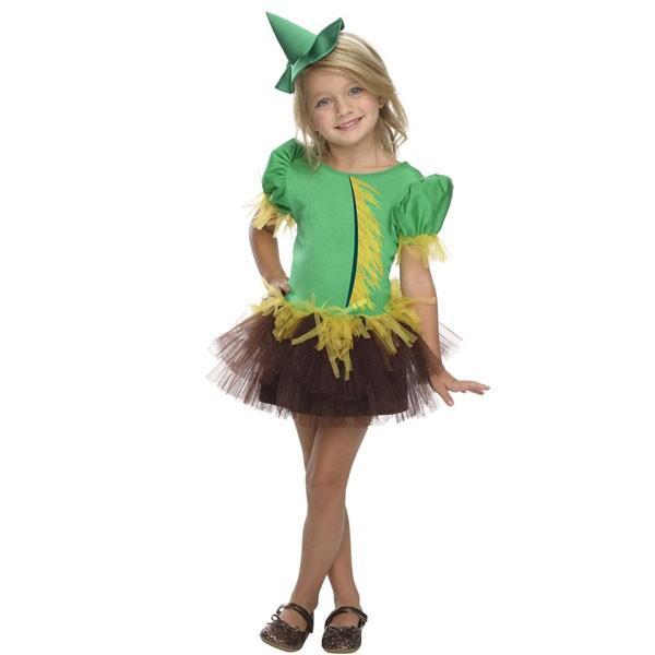 オズの魔法使い かかし チュチュ コスチューム 子供用 女の子用 ハロウィン コスプレ 衣装