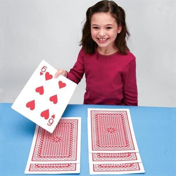 トランプ 大きい カード おもしろい おもちゃ マジック グッズ 子供 遊び道具 通常の8倍のトランプ