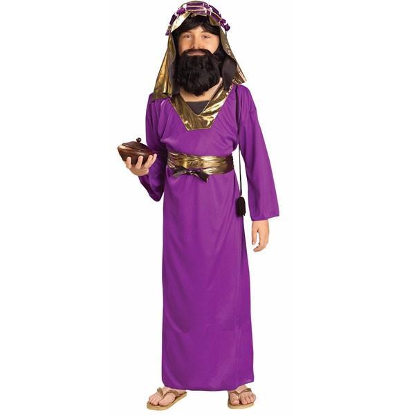 コスプレ 子供 衣装 男の子 人気 クリスマス 紫 パープル 賢者 コスチューム 聖書 バイブル キリスト ハロウィン グッズ あすつく