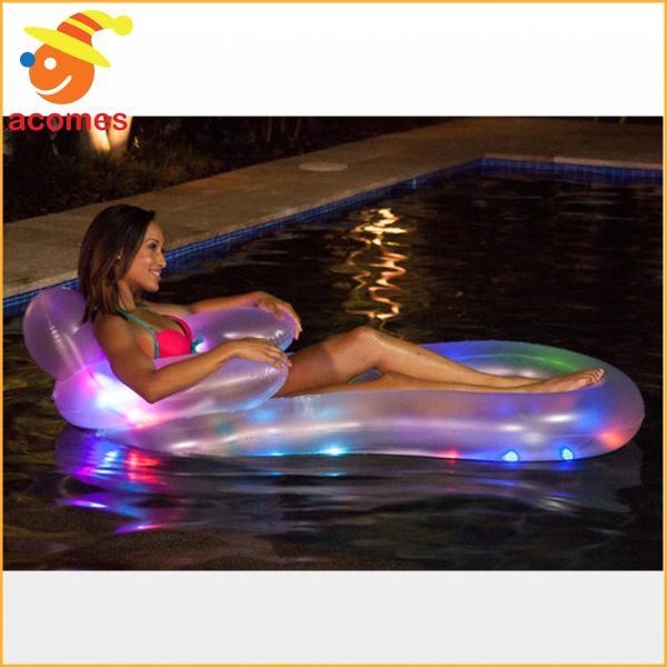 ナイトプール グッズ LED 光る 浮き輪 うきわ ボート フロート おもしろい プール 海 ビーチ パーティ グッズ 面白い浮き輪 インスタ