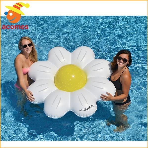 お花 大きい 浮き輪 フロートジャンボ デイジー 花 ビーチボール リング セット おもしろい プール 海 水遊び 海水浴 浮き輪 インスタ映え ナイトプール