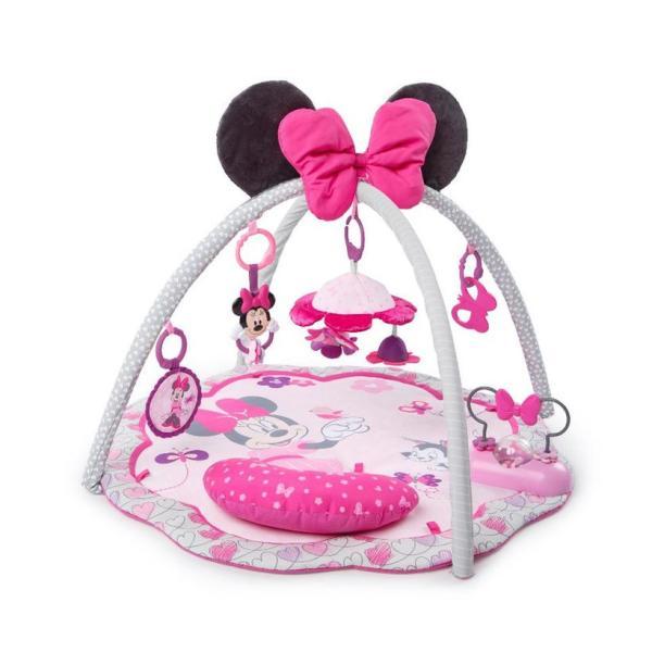 クリスマスプレゼント 子供 ベビージム プレイマット ミニーマウス ピンク ディズニー 海外 赤ちゃん ベビー おもちゃ 育児 グッズ
