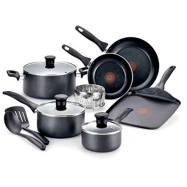 T-fal ティファール 調理器具セット ノンスティック 焦げ付かない 鍋 フライパン 12種類 セット 海外 キッチン用品 母の日