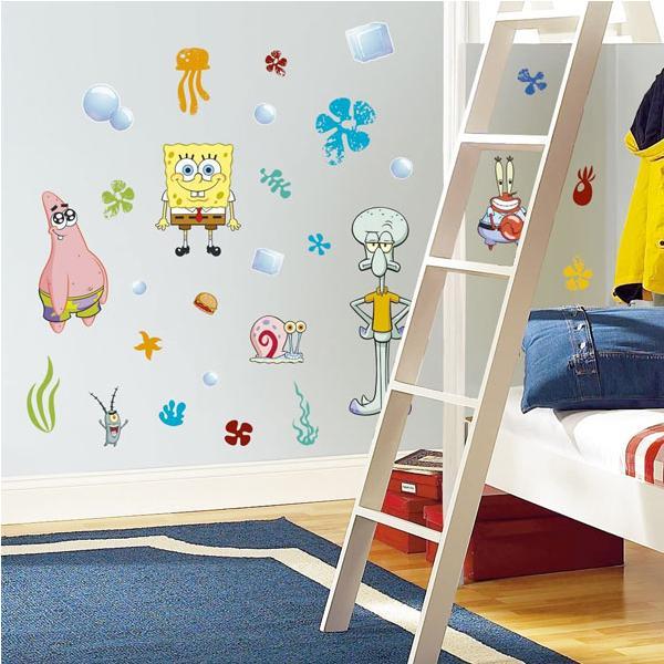 スポンジボブ グッズ ウォールステッカー 子供 部屋 壁 飾り シール