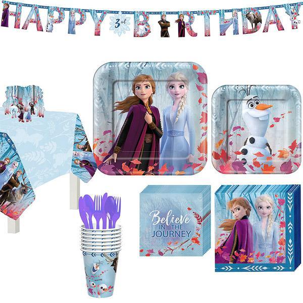 アナ雪 パーティーセット 8人用 ディズニー グッズ 誕生日会 バースデー パーティー 女の子 アナと雪の女王 Disney Frozen 2
