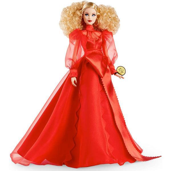 バービー 人形 マテル 75周年記念 フィギュア 海外版 おもちゃ 赤 ドレス Barbie