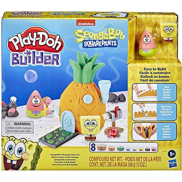スポンジボブ おもちゃ 粘土 遊び Play-Doh Builder パイナップルハウス キット 5歳以上 ハズブロ
