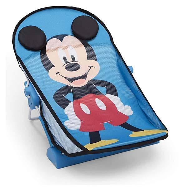 ディズニー ミッキー プーさん ベビーバスチェア 新生児 0〜6カ月 折りたたみ式 コンパクト リクライニング メッシュ素材 赤ちゃん 入浴 お風呂 バスタブ