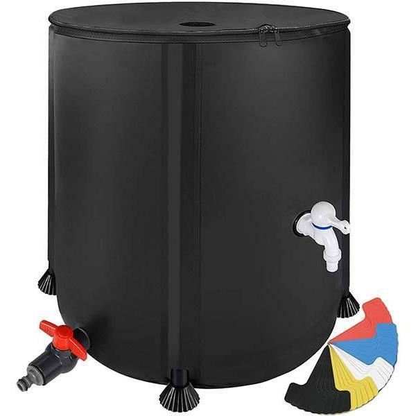 雨水タンク 家庭用 200L 折りたたみ式 雨水収集システム スピゴット オーバーフローキット 海外