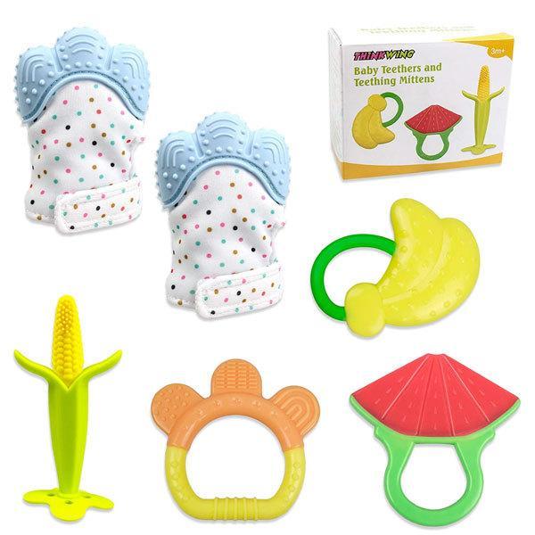 歯固め シリコン 手袋  ミトン 歯固め 可愛い とうもろこし スイカ バナナ フルーツの形 出産祝い ベビー 玩具 用品