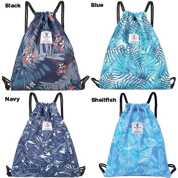 プールバッグ おしゃれ トロピカル 防水 バックパック ドライ&ウェット プール ビーチ 旅行 ジムバッグ スイミングバッグ ビーチバッグ