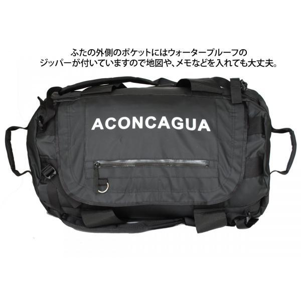 ダッフルバッグ リュックサック ボストンバッグ 60L 防水 スポーツバッグ 撥水 Aconcagua アコンカグア Tigre ティグレ BLACK 60L|aconcagua|04