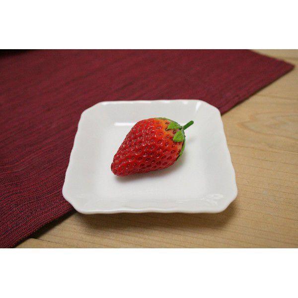 日本製 美濃焼 陶器 白 78 スクエアトレー 四角いお皿 小皿 白いお皿