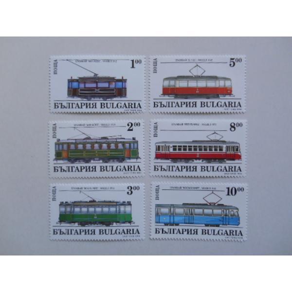 ブルガリア 切手 1994 ソフィア 路面電車 4157