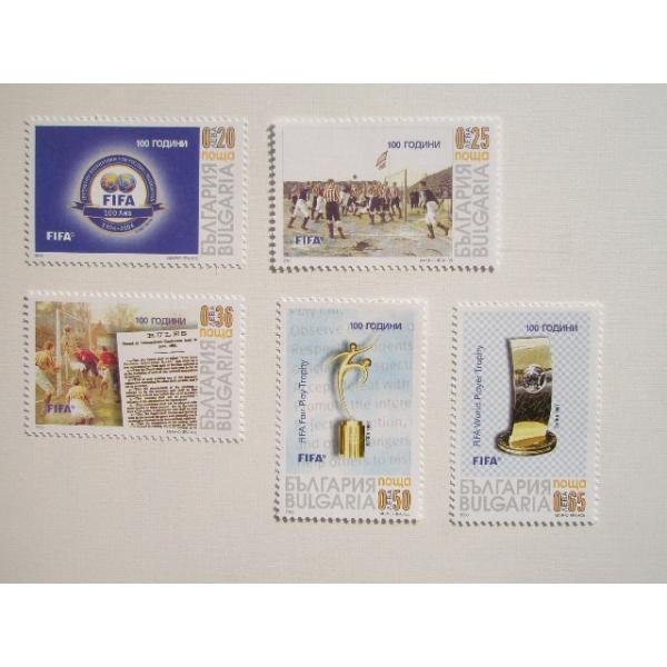 ブルガリア 切手 2003 FIFA 100周年 4617